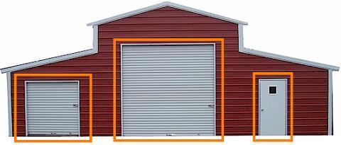 standard garage door options