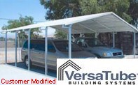 Customer Modified Carport - VERSATUBE