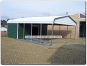 Tnt metal carports garages buildings rv for Carport dog kennels