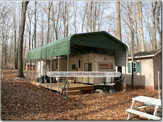 Rv covers and carports tnt metal for Rv covered parking structures